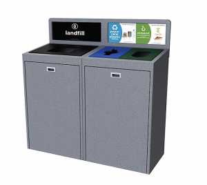 Recycling bin signage